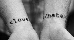 Love Hate brand schizophrenia
