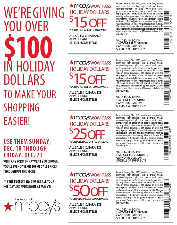 macys christmas coupons