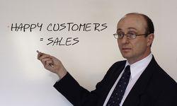 Happy customers equal sales