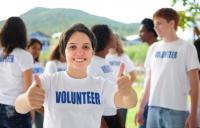 Millennial volunteer