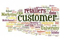 Big Data retail word cloud